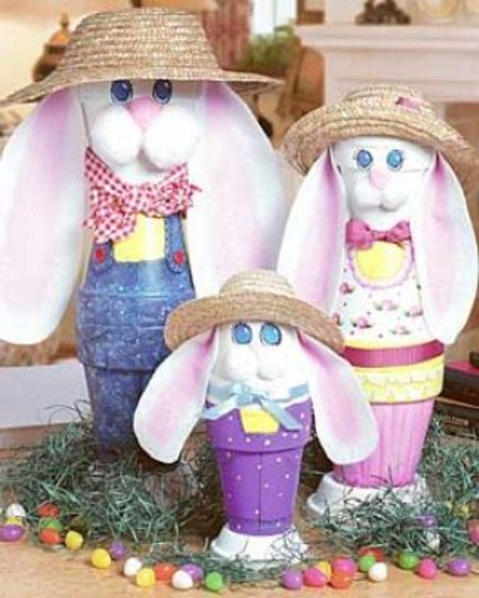 Easter Bunny Flower Pots | Easy Easter Crafts for Kids to Make