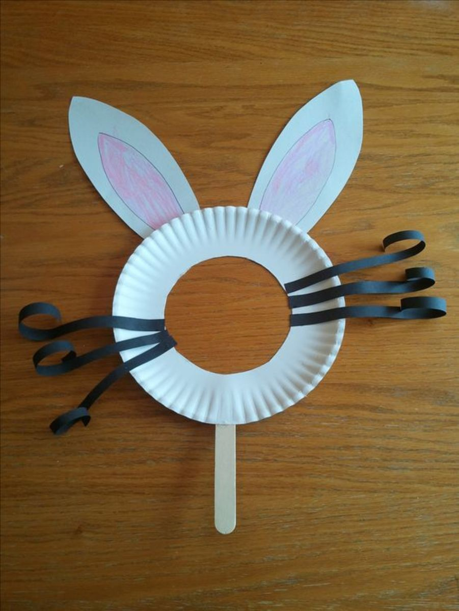 Paper Plate Bunny Mask | Easy Easter Crafts for Kids to Make