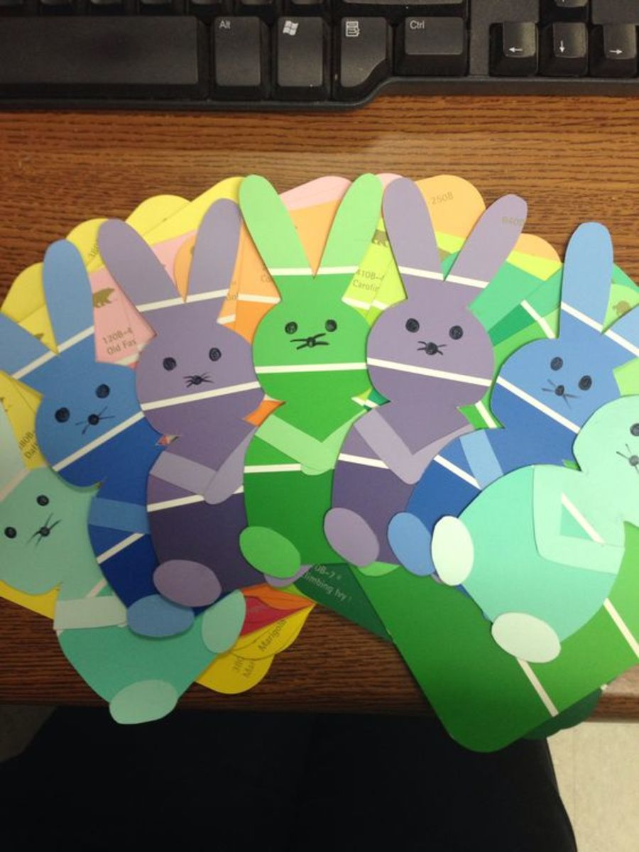 Paint Chip Easter Garland | Easy Easter Crafts for Kids to Make