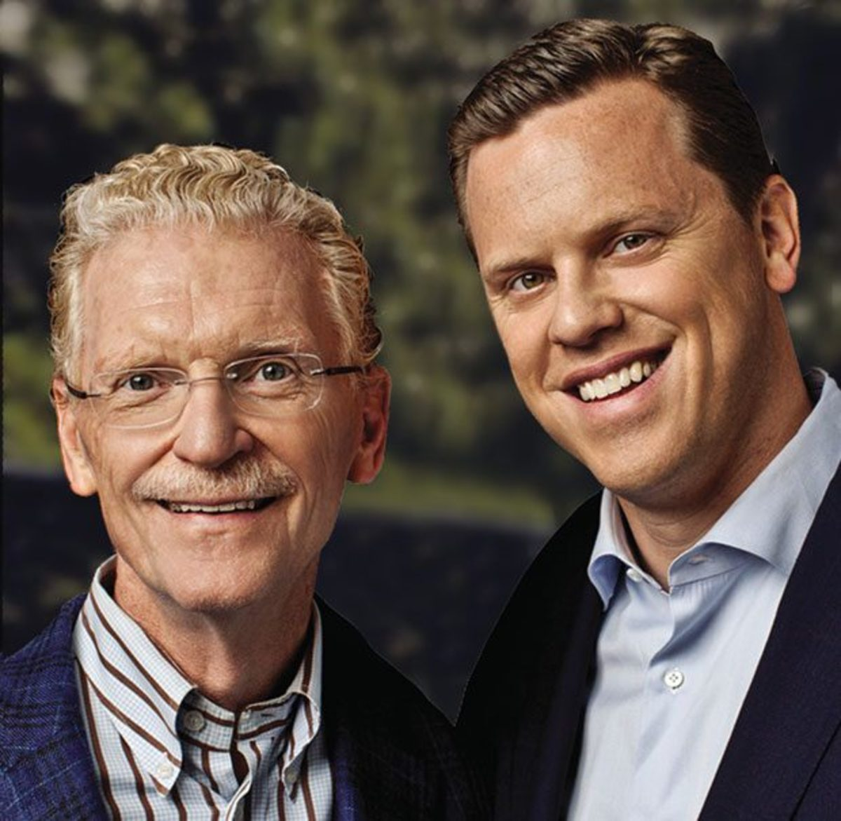 Author Bill Geist, with famous son Willie Geist, also a newsman.