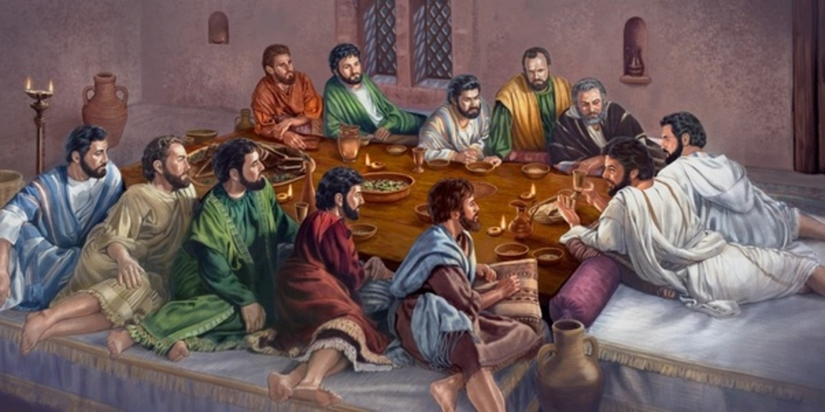 Possible seating arrangement for the last supper;