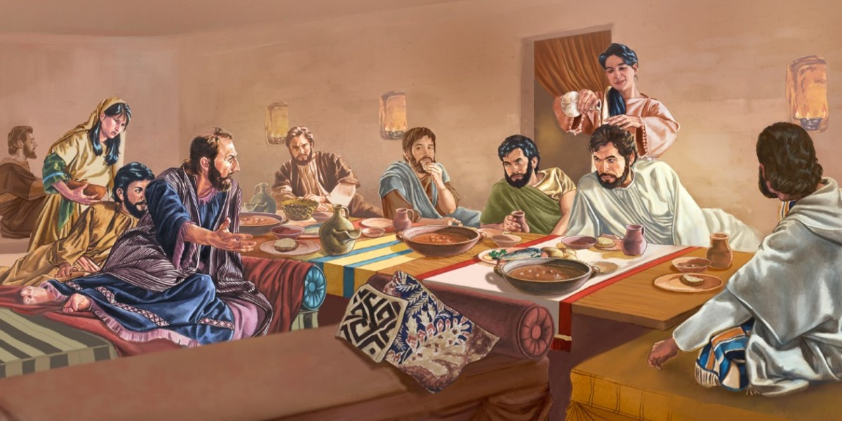Possible Last Supper position.
