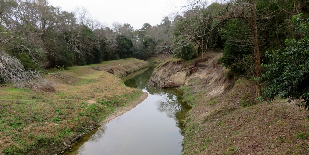 View of Hall's Bayou from the bridge