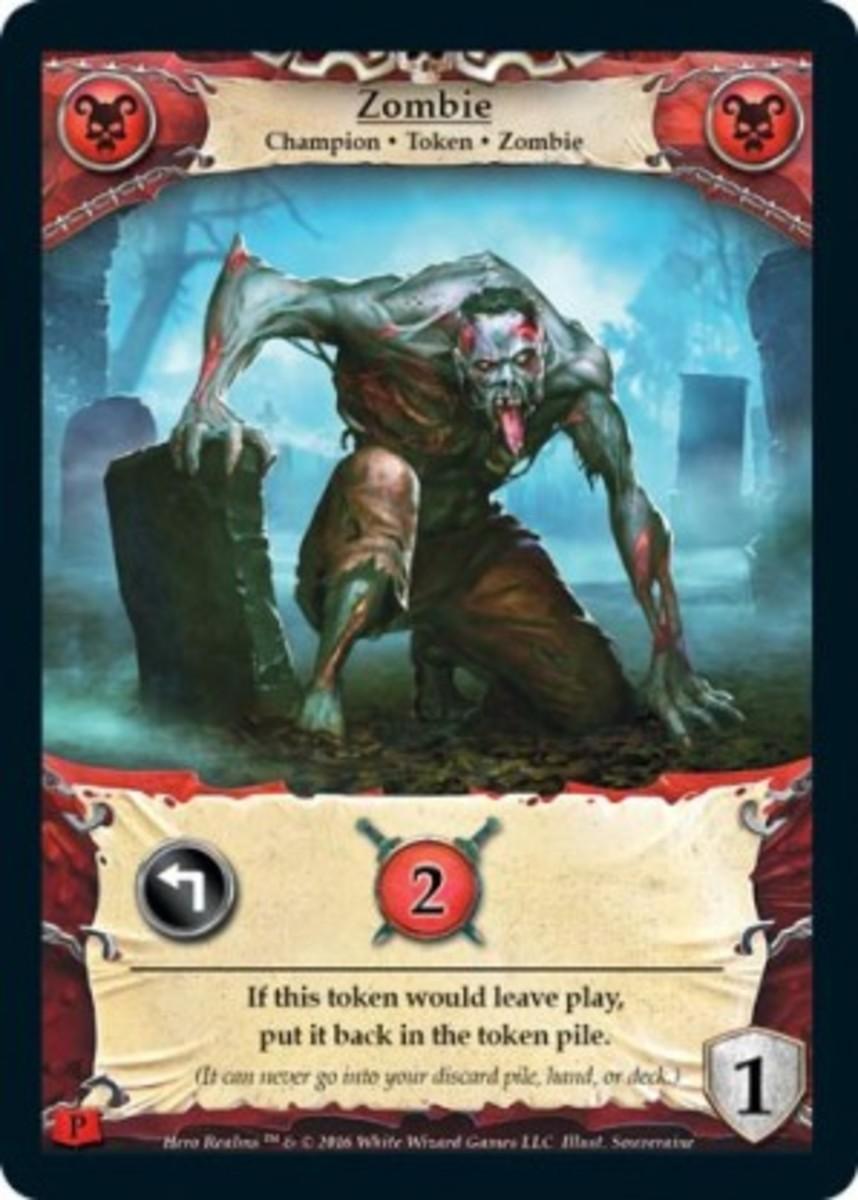 Zombie token in Hero Realms