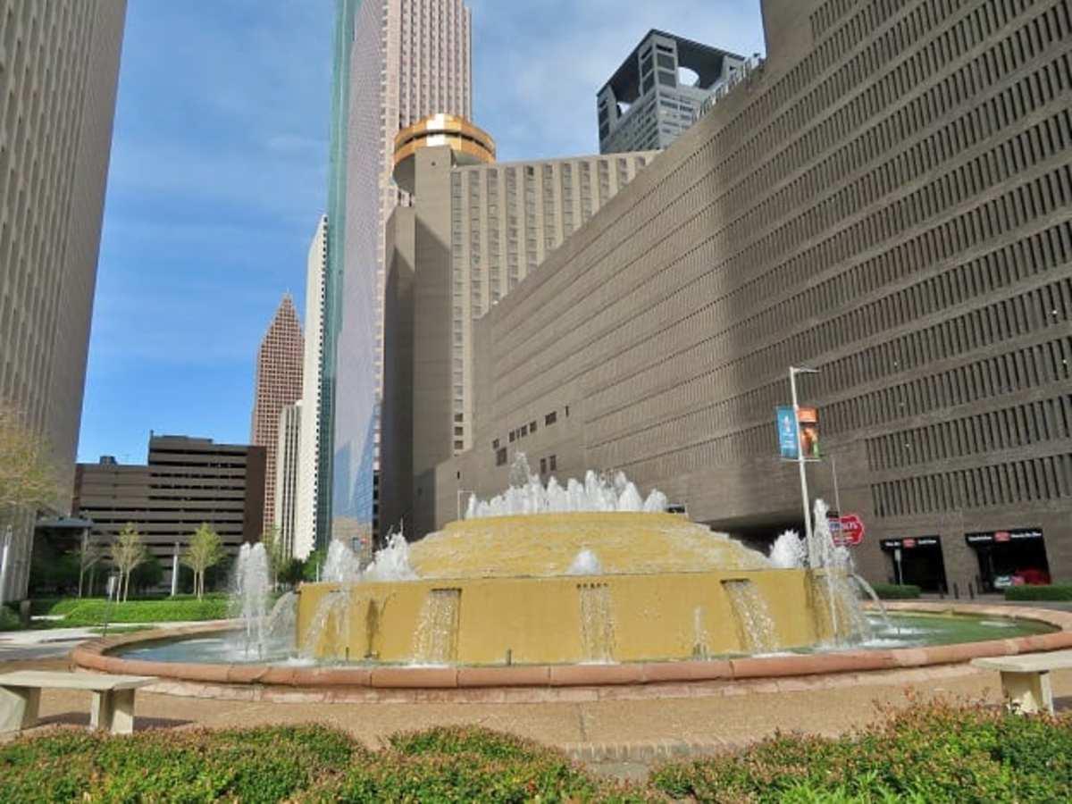 Bob and Vivian Smith Fountain in downtown Houston