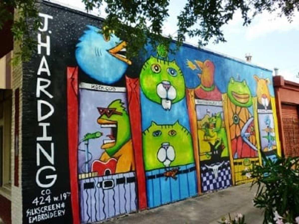 Beans Barton Mural At J. Harding Co. in Houston