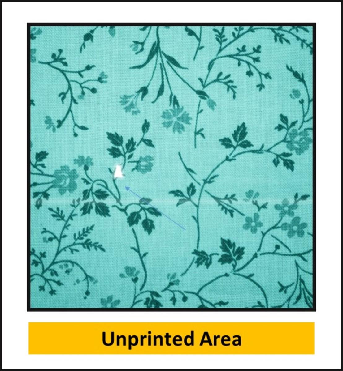 Unprinted Area