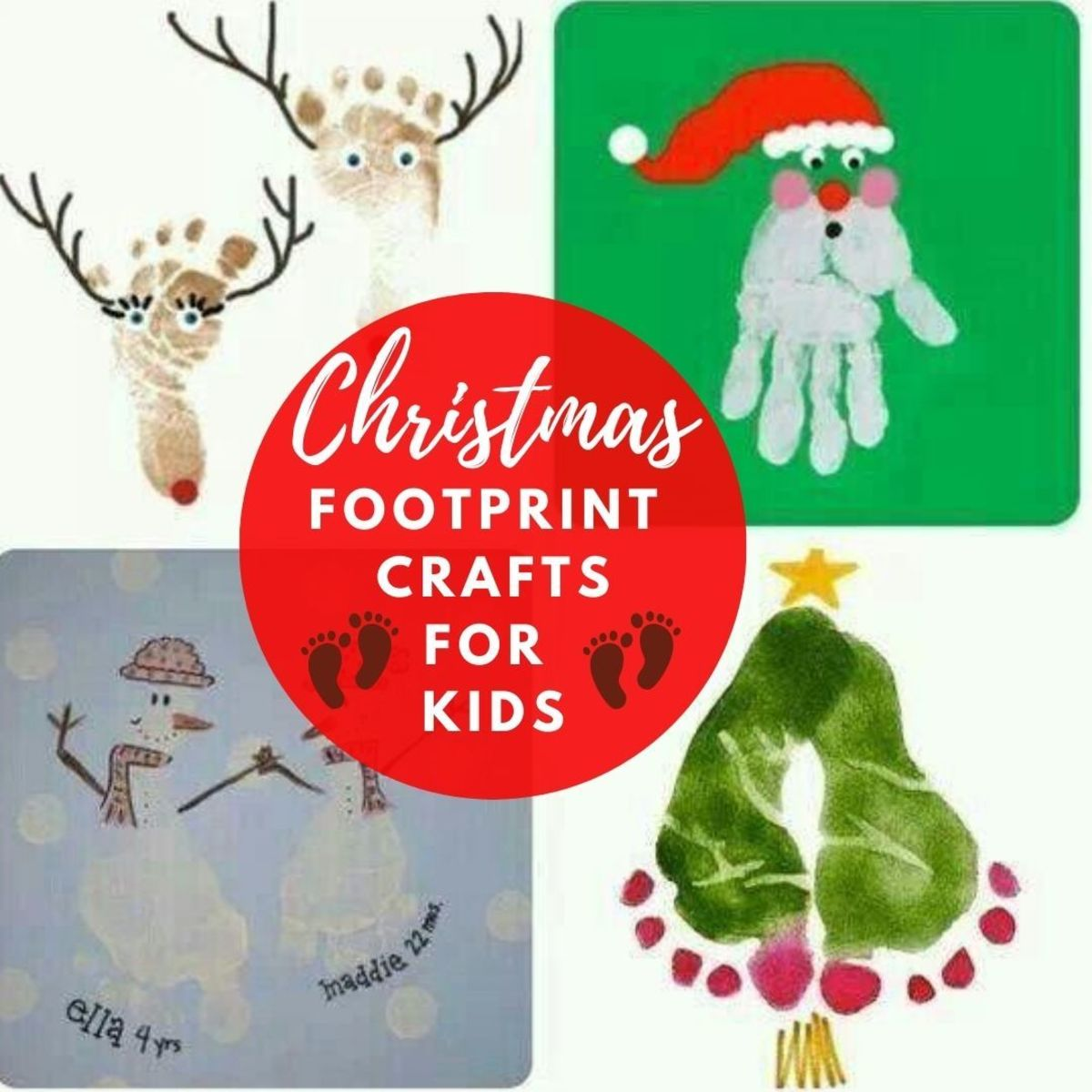 Christmas Footprint Crafts for Kids