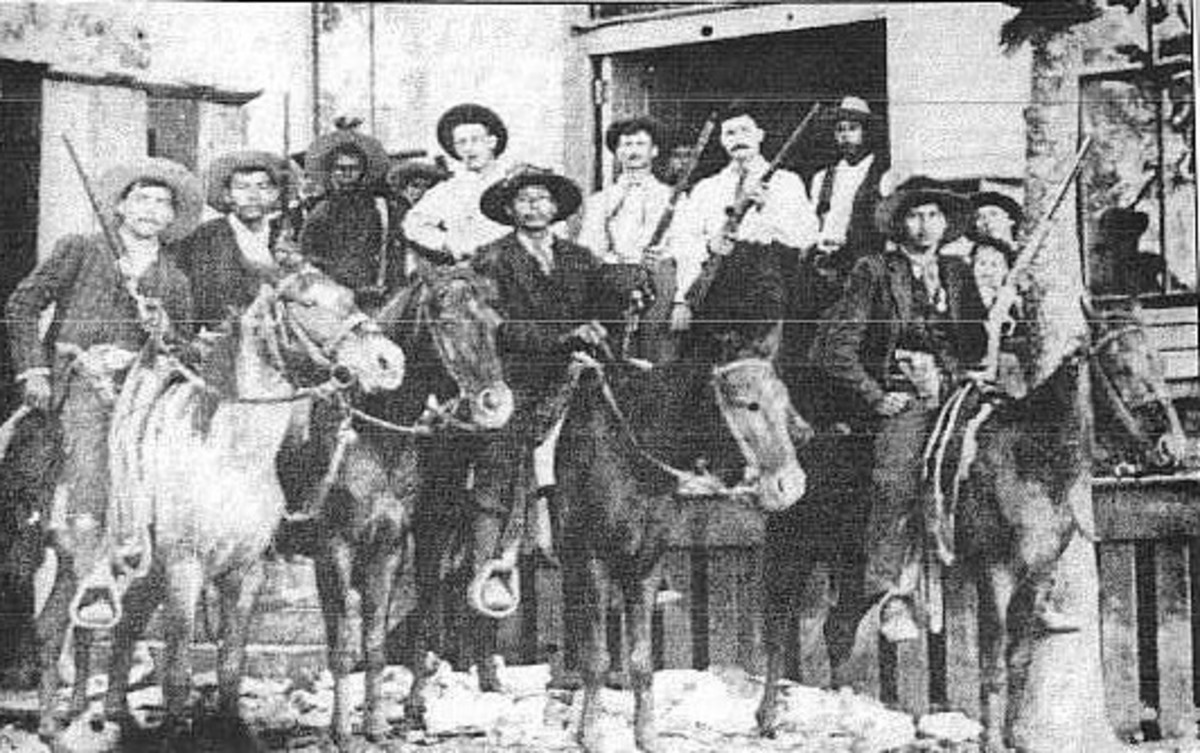 The Choctaw Nation Light horsemen, which helped preserve the laws throughout the nation, similar to how the U.S. Marshal did during that time.