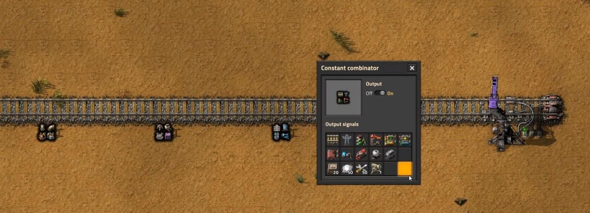 Station setup with Car 1 combinator settings