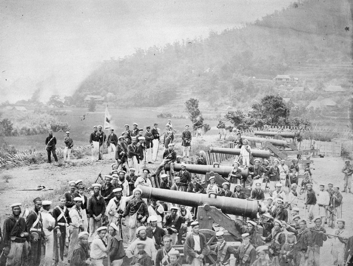 Captured battery of the Choshu.
