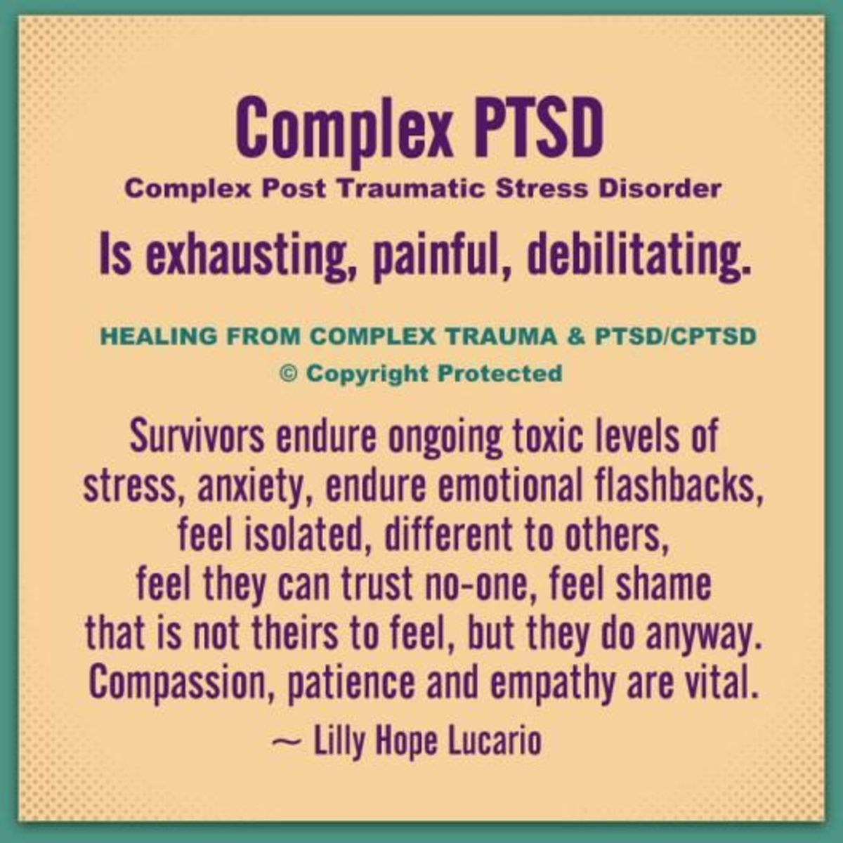Living With Complex Post Traumatic Stress Disorder