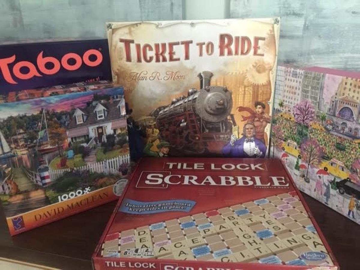 Board games and puzzles we played during shutdown