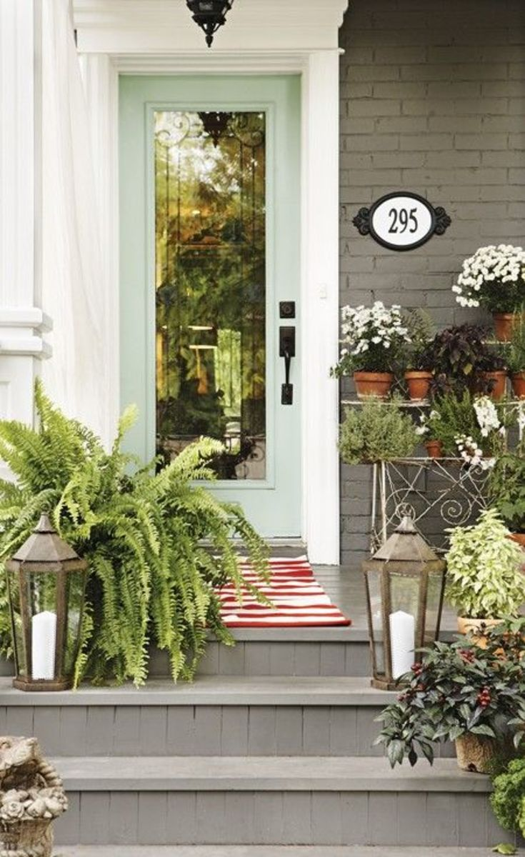 Victorian entry with plants