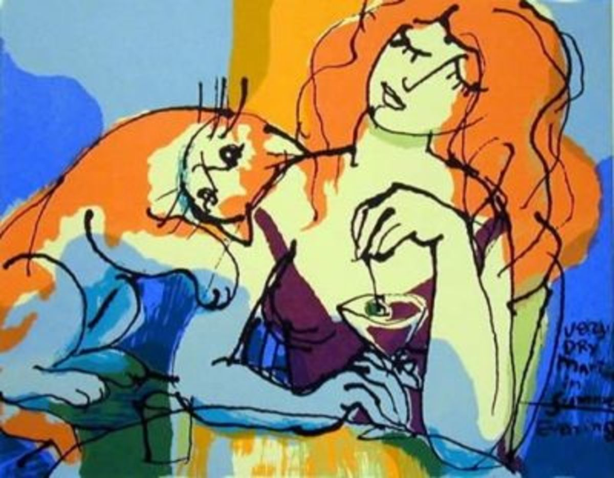 "How about some art? (""Very Dry Martini"", Michael Leu)"