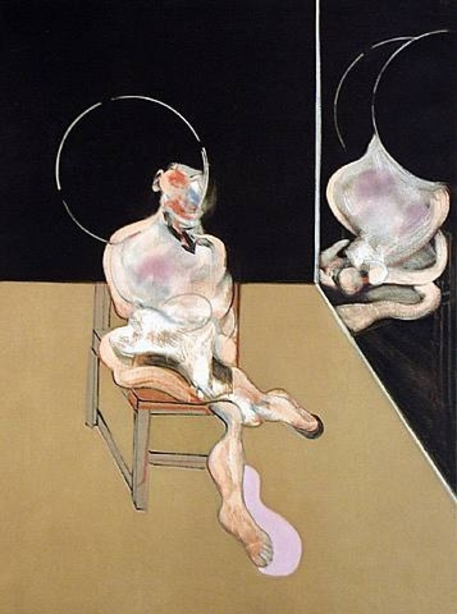 """""""Seated Figure"""" by Francis Bacon"""