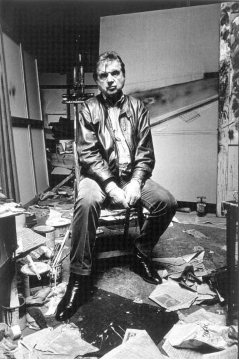 Francis Bacon another pic in his studio ~Yet this is not what his art is about or is it?