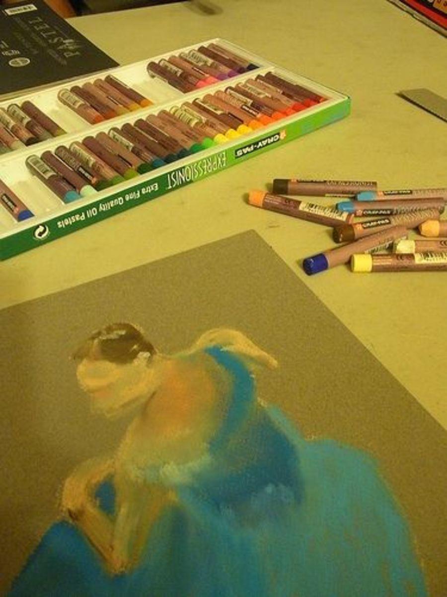Oil Pastel Project - Degas's Ballet Dancers