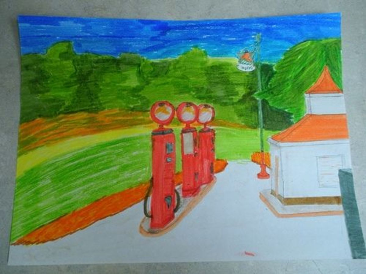 Grant Wood - Recreated with Markers