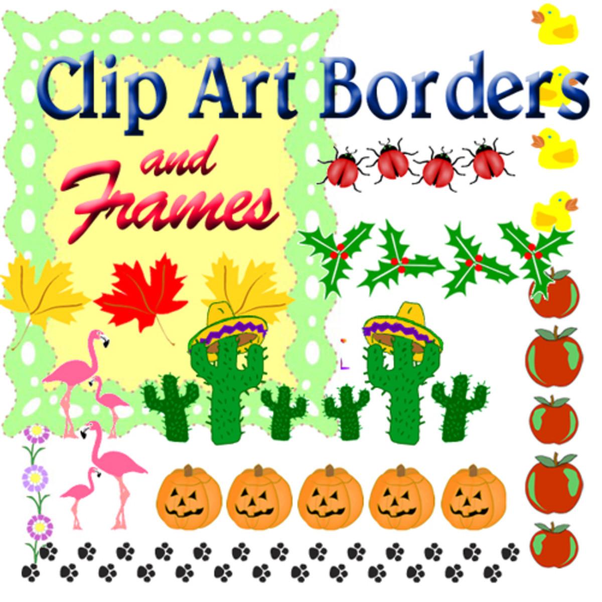 Clip art borders amp frames