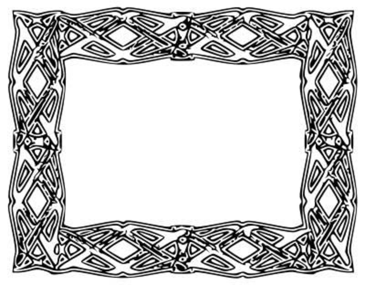 Celtic Frame Border Clip Art, public domain clip art by angelo gemmi
