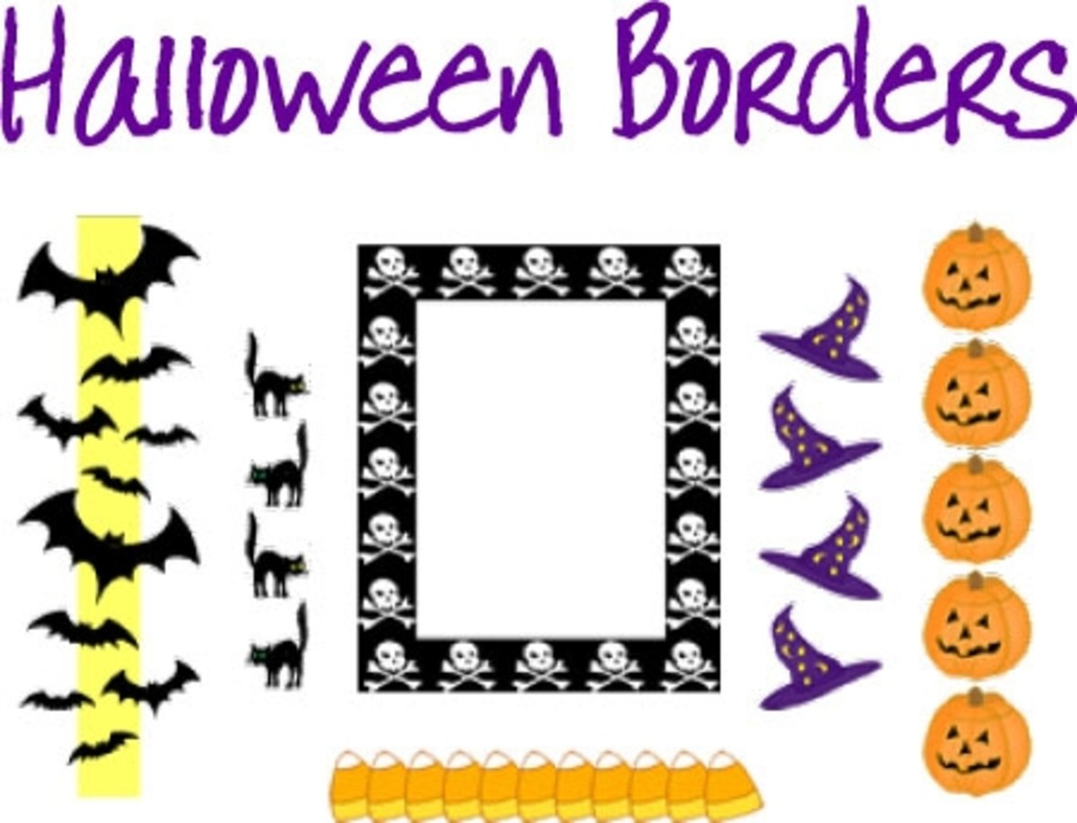 Halloween Clip Art Borders and Frames