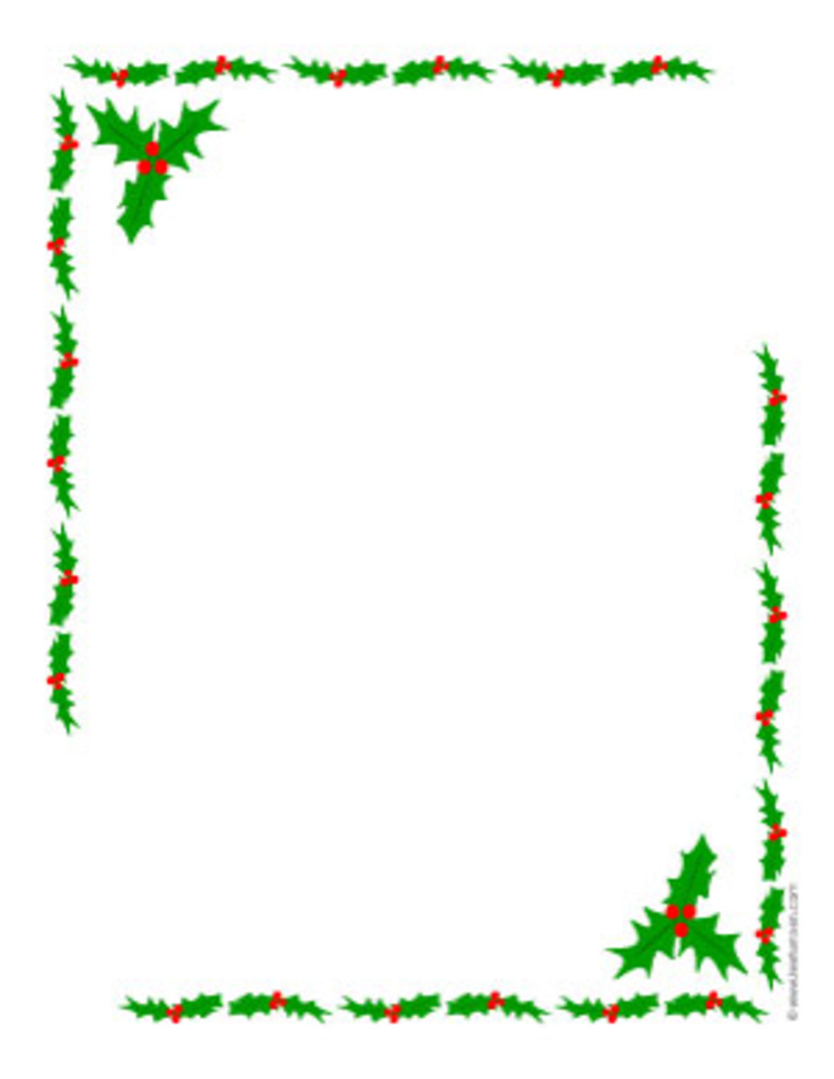 Holly borders frame clip art