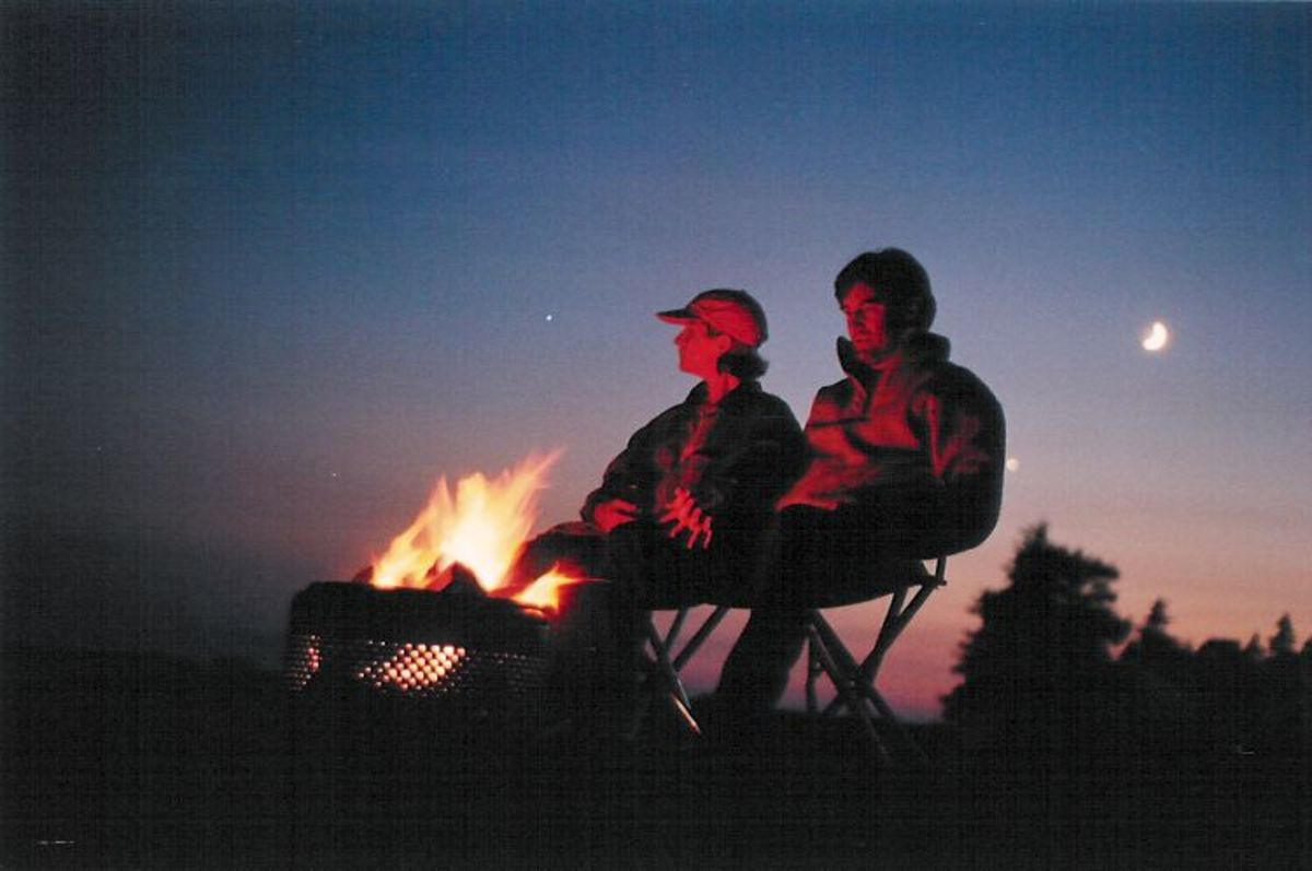 A cozy campfire and a song