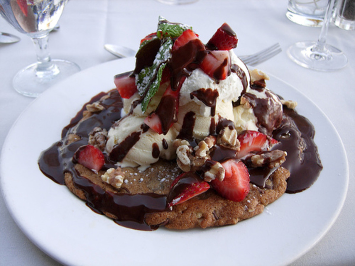 Toll House cookie sundae - good enough to serve at restaurants!