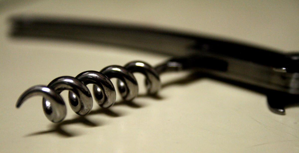 Corkscrew wine opener