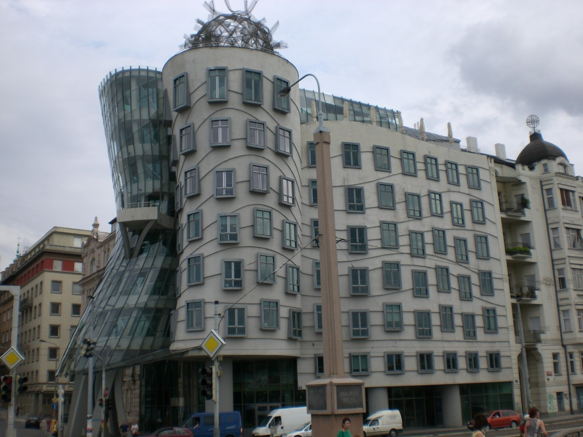 The Dancing House was designed to look like a pair of dancers mid-routine.