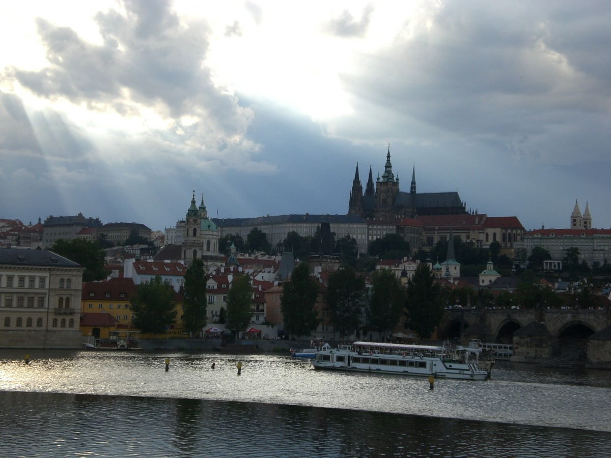 This was the first view I had of Prague.