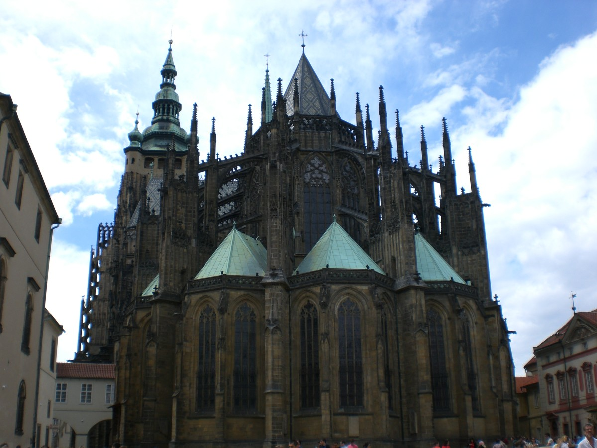 St. Vitus Cathedral within the walls of Prague Castle.
