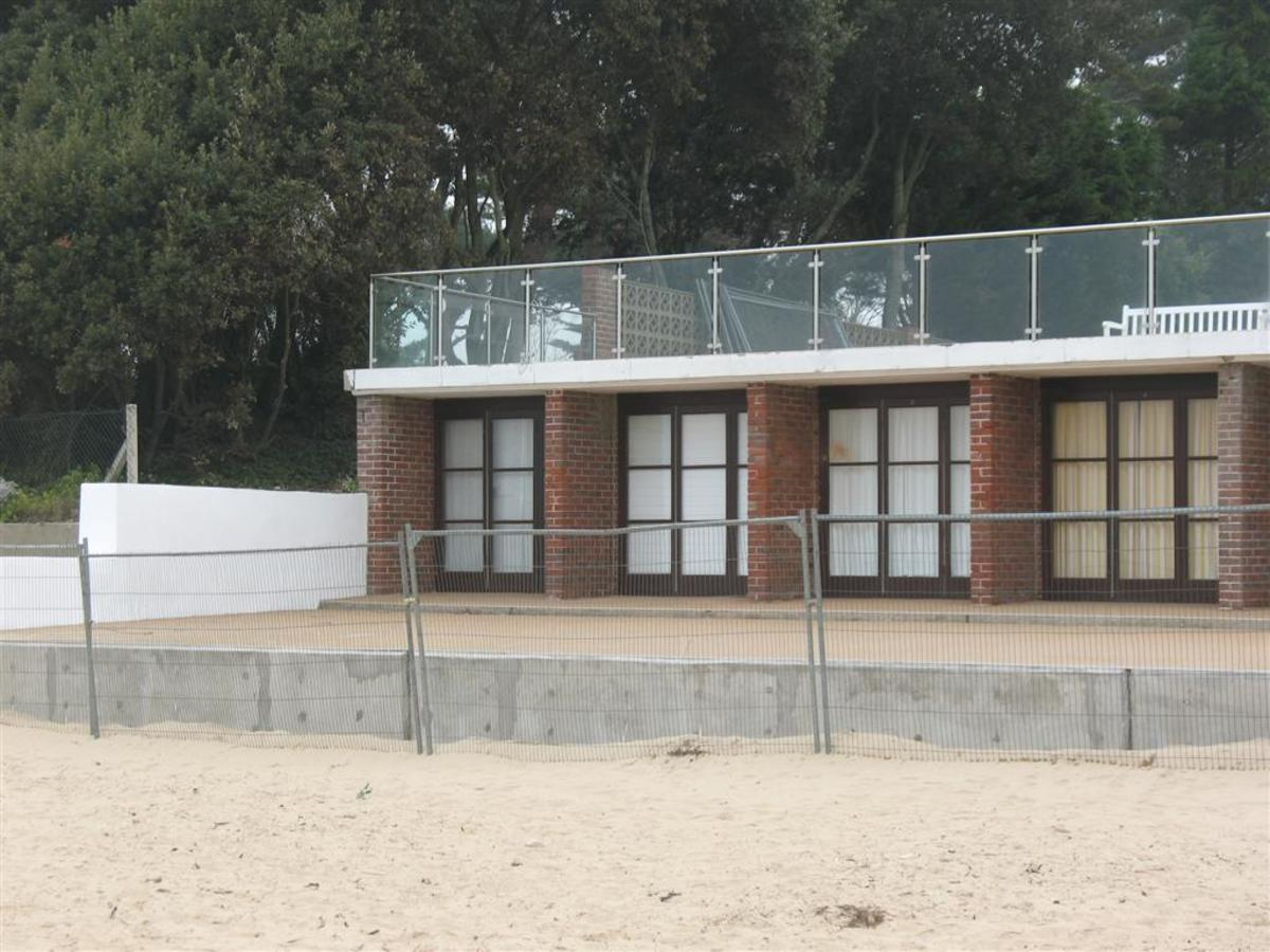 The beach huts at Midway Path, Sandbanks