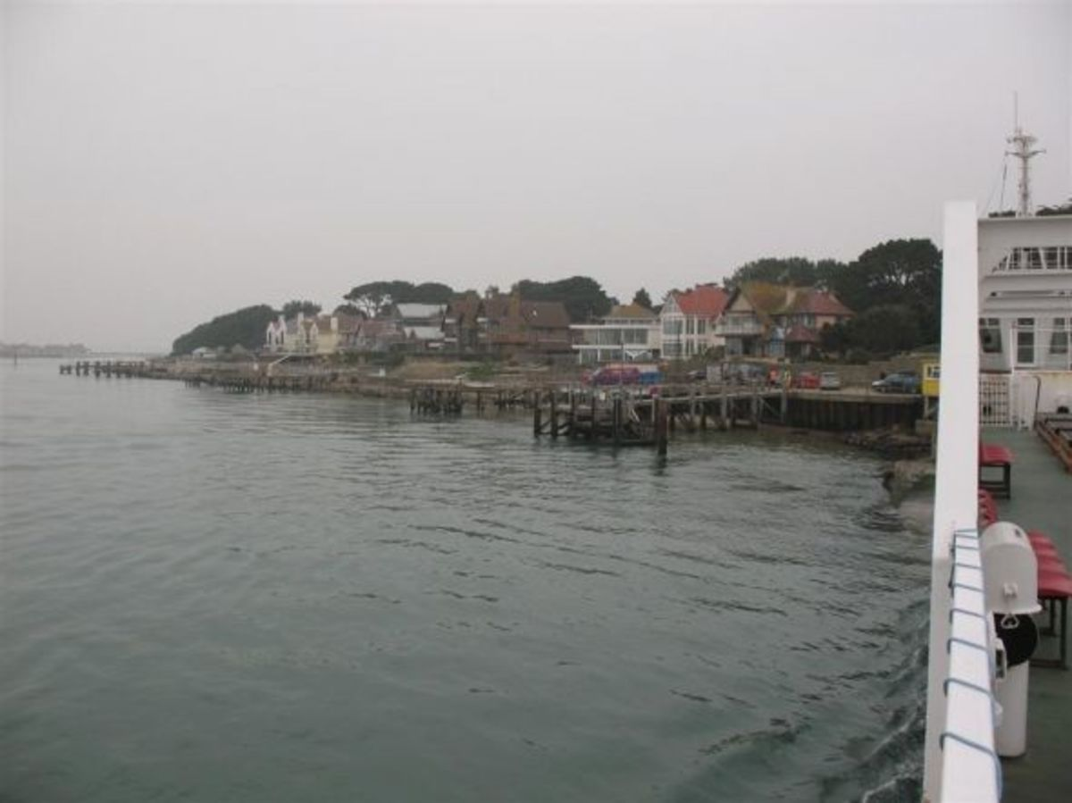 A view from Sandbanks Ferry looking west.