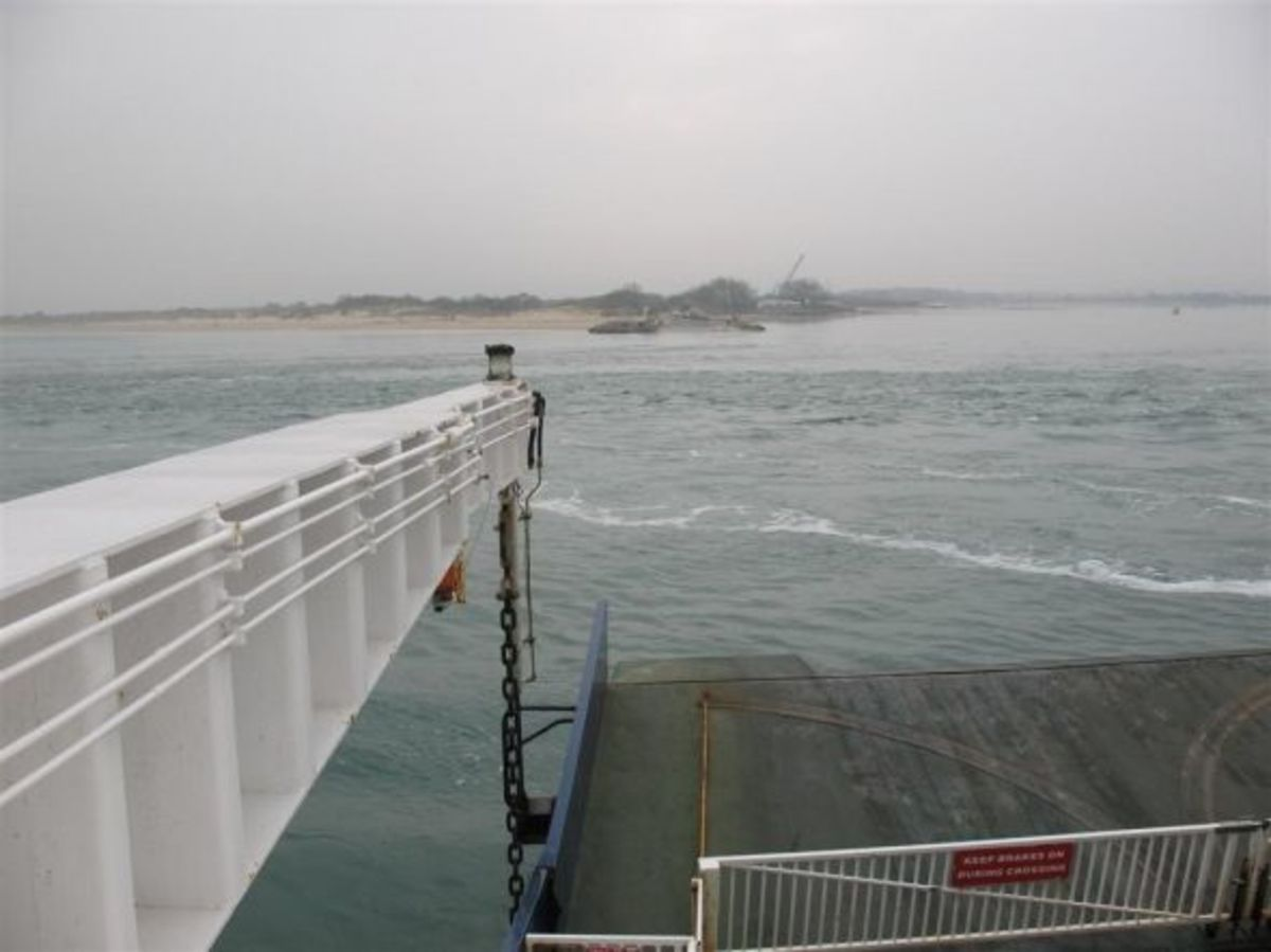 Studland and Shell Bay from Sandbanks Ferry