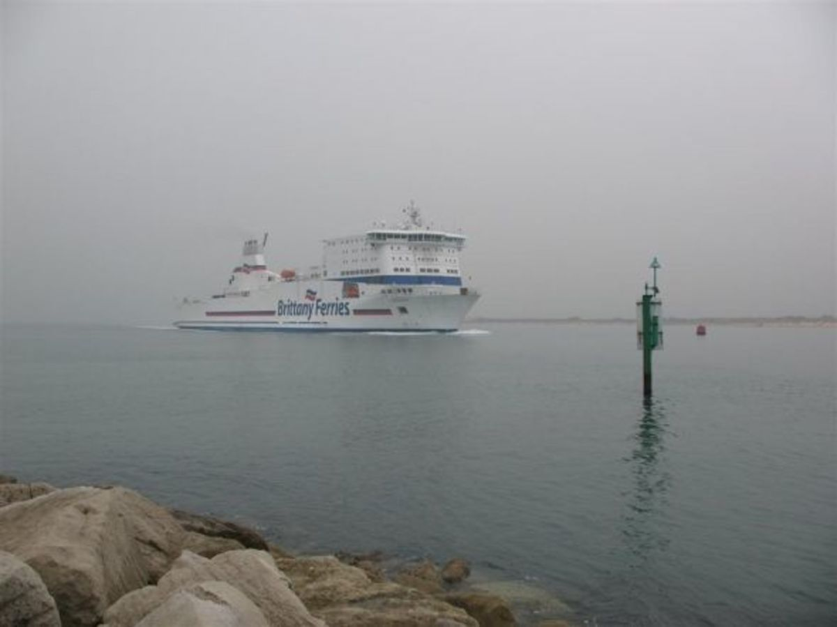 One of the Brittany Ferries approaching The Haven, inbound from Cherbourg.