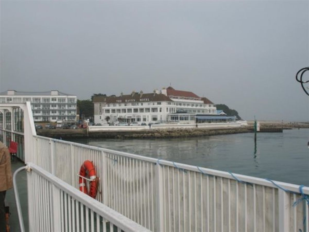The Haven Hotel from Sandbanks Ferry