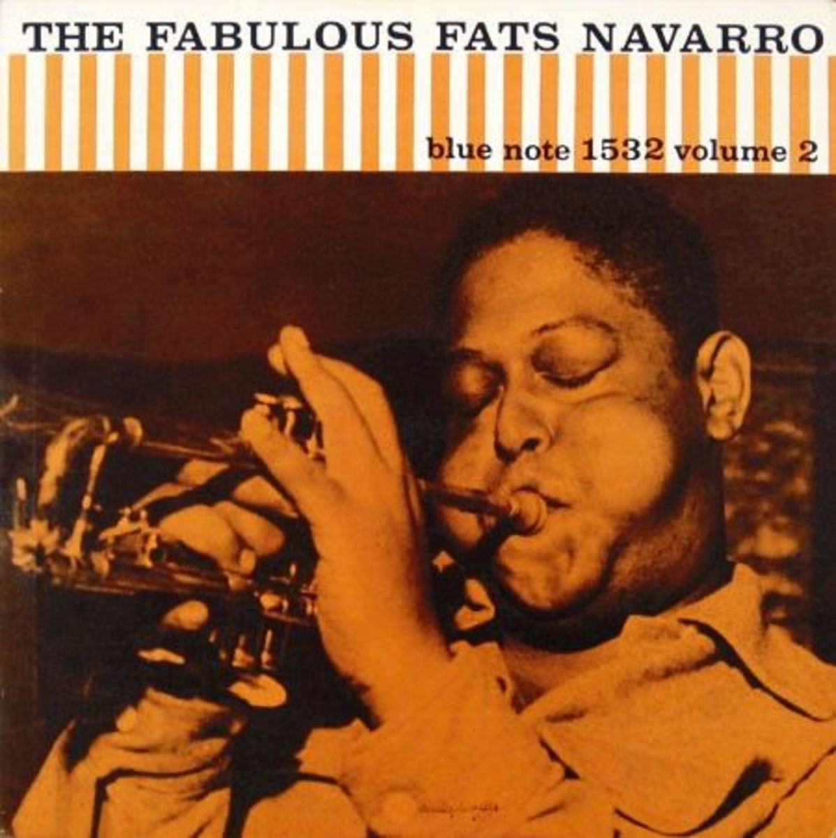 "Fats Navarro ""Fabulous Fats Navarro, vol. 2"" Blue Note Records 1532 12"" LP Vinyl Record (1956) Album Cover Design by Reid Miles, Photo by Francis Wolff"