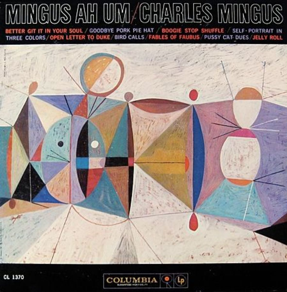 "Charles Mingus ""Ah Um"" Columbia Records CL 1370 12"" LP Vinyl Reocrd (1959) Album Cover Painting by Neil Fujita"