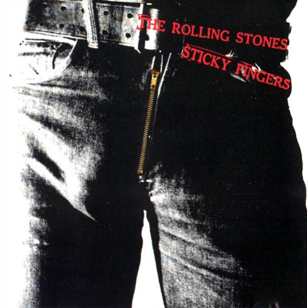 "The Rolling Stones ""Sticky Fingers"" Rolling Stones Records COC 39105 12"" LP Vinyl Record US Pressing (1971) Gatefold Album Cover Art & Design by Andy Warhol"