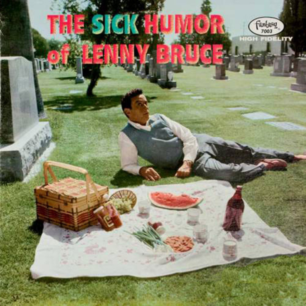 "Lenny Bruce ""The Sick Humor of Lenny Bruce"" Fantasy Records 7003 12"" LP Record, US Pressing (1958) Red Vinyl Record"