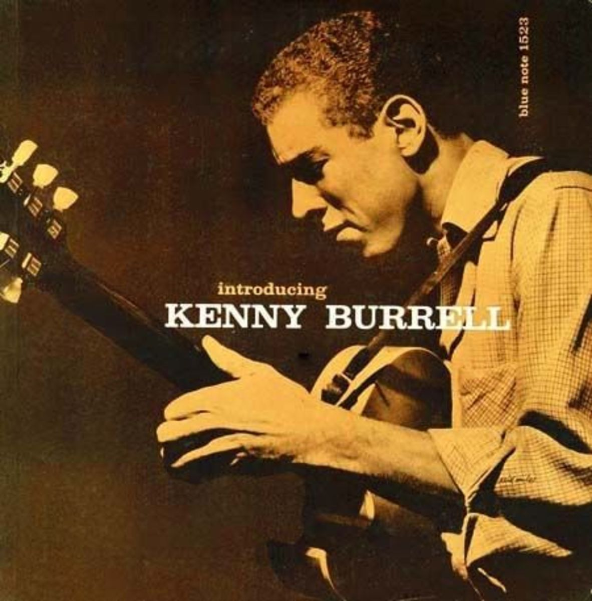 "Kenny Burrell ""Introducing Kenny Burrell"" Blue Note Records BLP 1523 12"" LP Record (1956) Album Cover Design by Reid Miles Photo by Francis Wolff"