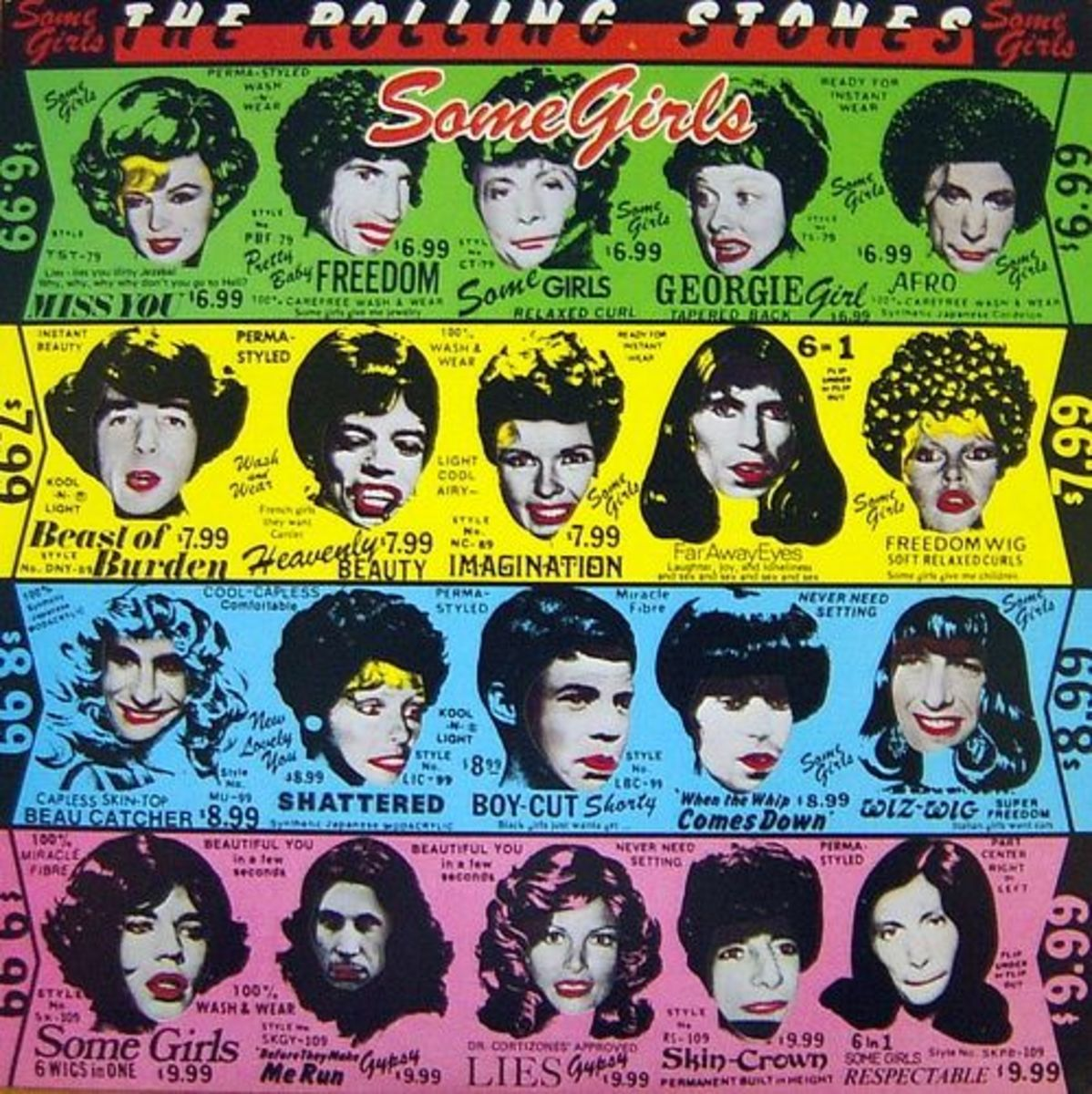 "The Rolling Stones ""Some Girls"" Rolling Stones Records COC 39108 12"" LP Vinyl Record (1978) Album Cover Art & Design by Peter Corriston"