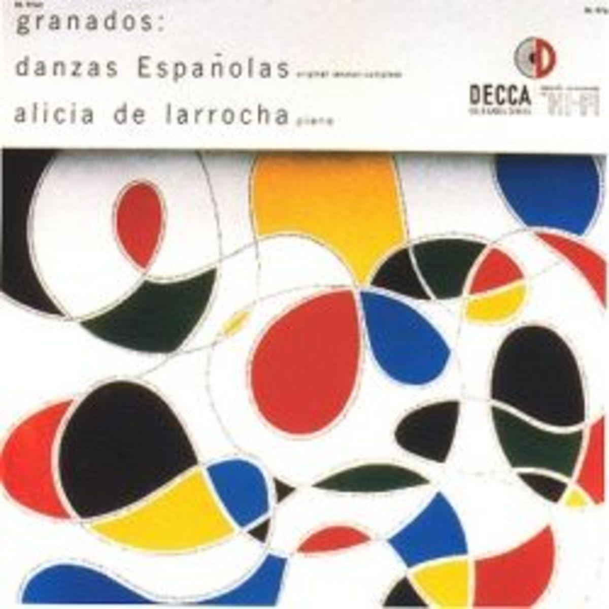 Alicia de Larrocha Granados: Danzas Espanolas Decca Records w/ Alex Steinweiss Cover Art