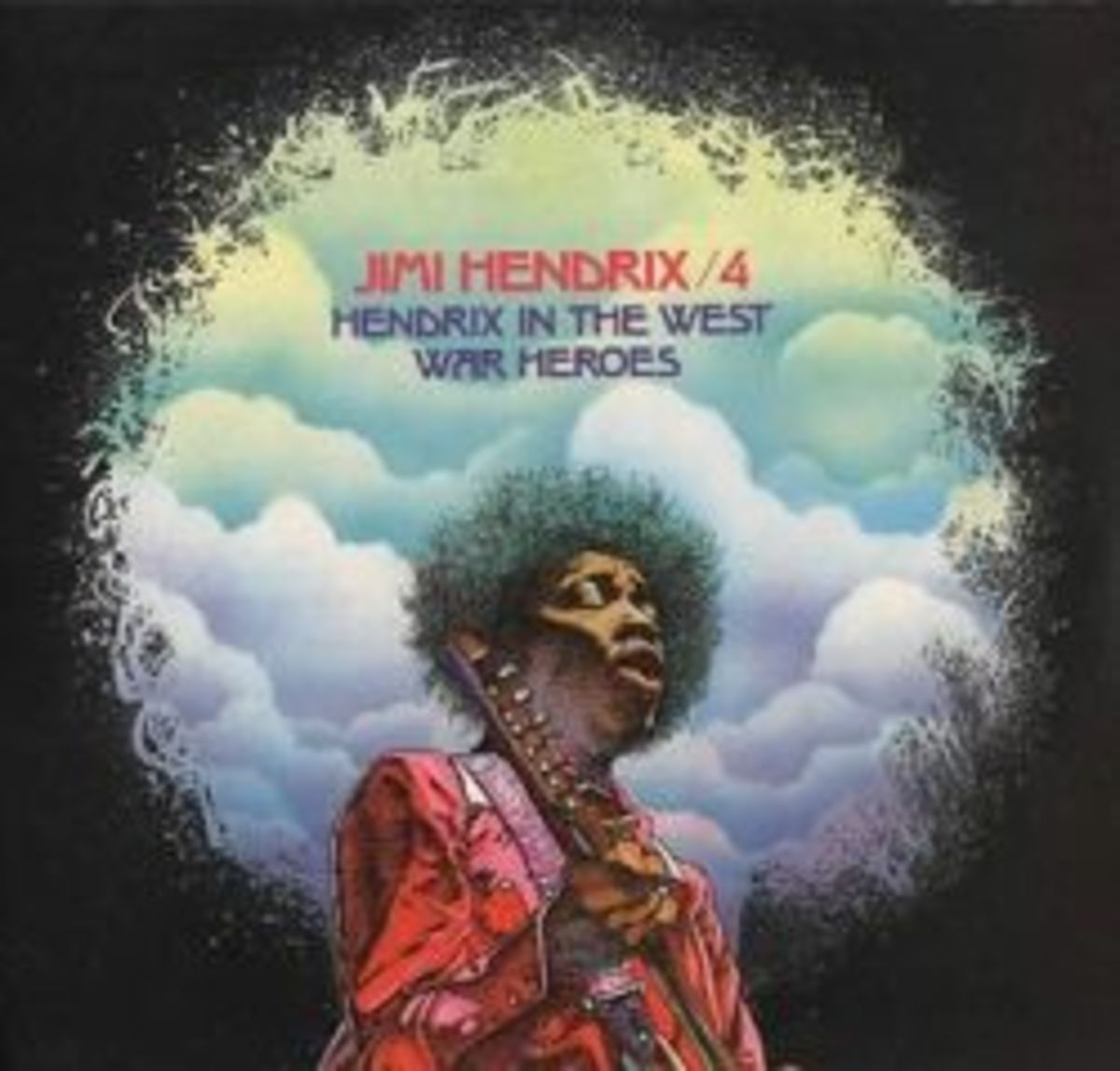 "Jimi Hendrix 4 ""Hendrix In The West"" "" War Heroes"" Barclay Records French 2 LP Set"