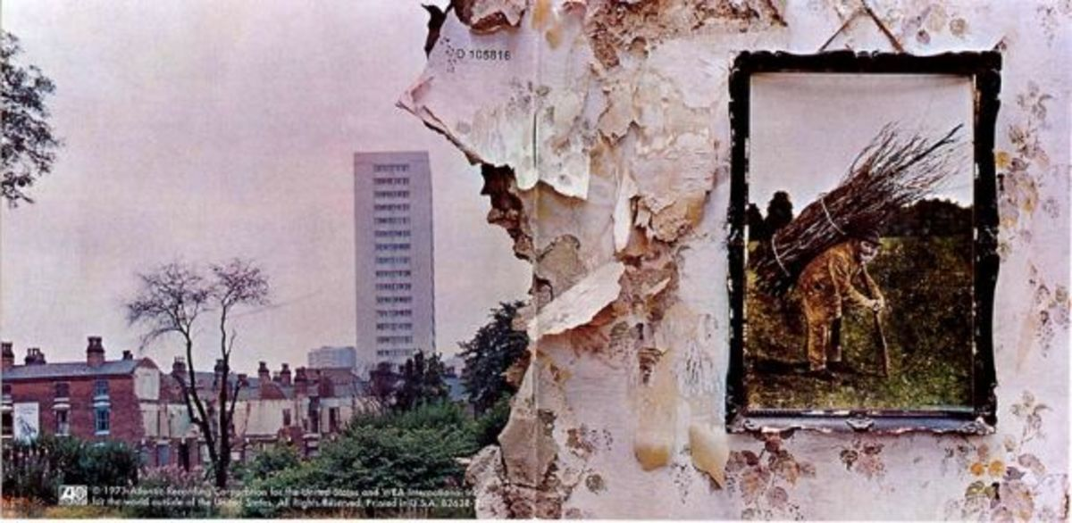 "Led Zeppelin ""Led Zeppelin IV"" Atlantic Records SD 7208 12"" Vintage Vinyl LP Record 1971 Gatefold Album Cover Design by Jimmy Page"