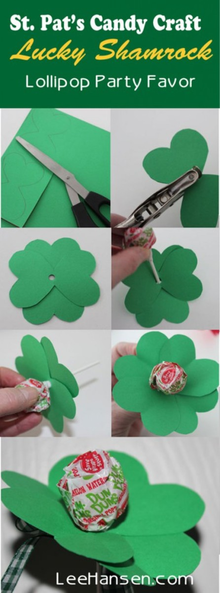Clever and Sweet Shamrock Sucker Gift