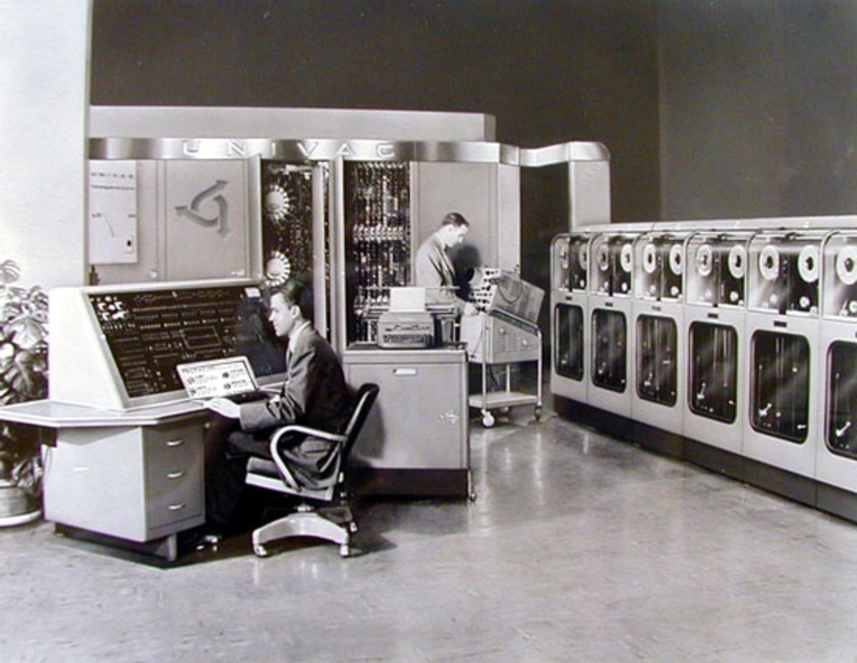 The bank of computers and the mainframe that is needed for the HubScore calculations of just one hub.