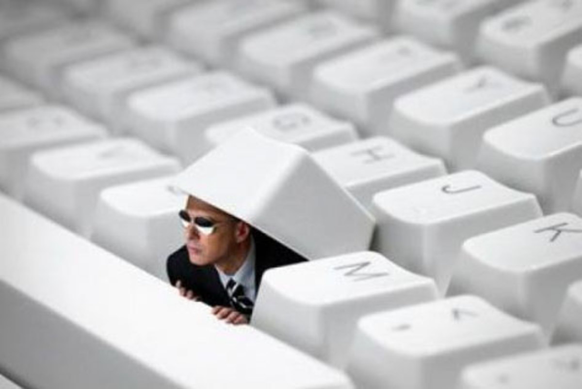 If you don't have a mother nearby to check your hubs before you publish, pretend that there's a little man living inside the keyboard who monitors your internet browsing. He's also known to check the keys for traces of DNA.